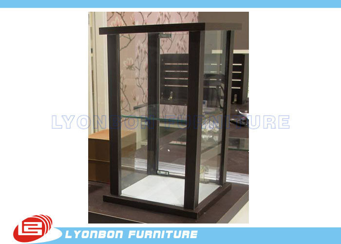 Brown Customized MDF Glass Countertop Display Cabinet For Women Bags display